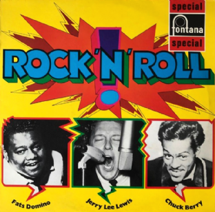Chuck Berry/Jerry Lee Lewis/Fats Domino - Rock 'N' Roll (LP) (G+/VG-)